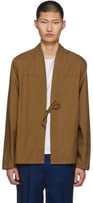 Naked & Famous Denim Denim SSENSE Exclusive Tan Kimono Shirt