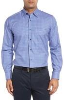 David Donahue Men's Regular Fit Check Sport Shirt