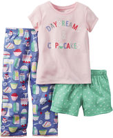 Carter's 3-pc. Short-Sleeve Pajama Set - Baby Girls 12m-24m
