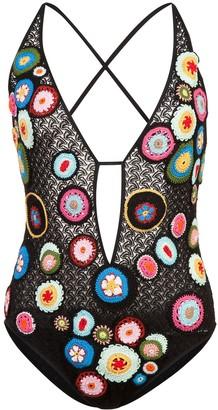Missoni Mare Floral Crochet Swimsuit