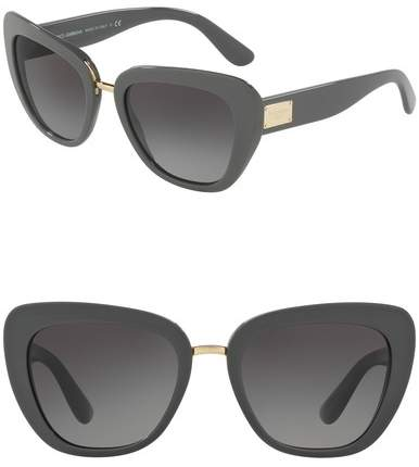 Dolce & Gabbana 55mm Butterfly Sunglasses