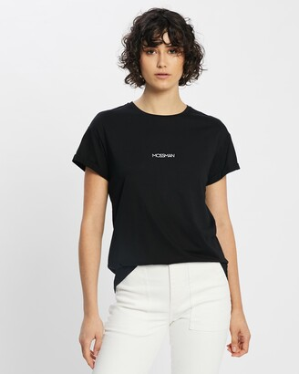 Mossman - Women's Black Printed T-Shirts - Mossman Logo Tee - Size 6 at The Iconic