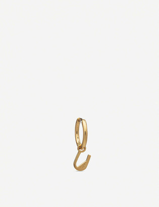 Rachel Jackson U initial 22ct gold-plated vermeil sterling silver hoop