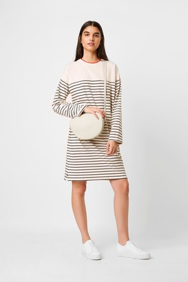 French Connection Tim Tim Breton Stripe Long Sleeve Dress