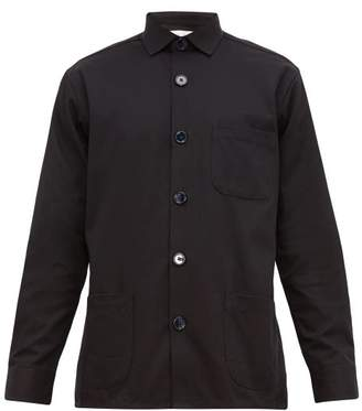 Schnaydermans Schnayderman's - Patch-pocket Cotton-twill Overshirt - Mens - Navy