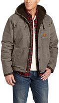 Carhartt Men's Sherpa Lined Sandstone Hooded Multi Pocket Jacket J284