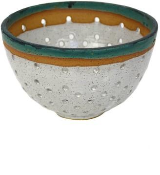 Natan Moss Ceramics Green Lucia Colander