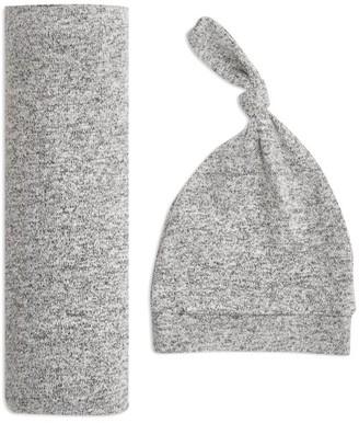 Aden Anais Snuggle Knit Swaddle Gift Set - Heather Grey