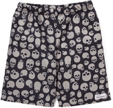 Flap Happy Cream Jolly Roger Swim Trunk - Toddler & Boys