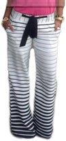 YACUN Women's Casual Stripes Long Straight Sport Leggings M