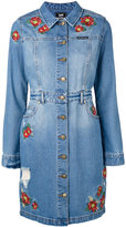 House of Holland embroidered shirt dress - women - Cotton/Polyester - XL