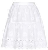 Diane von Furstenberg Sadey Broderie Anglaise Skirt