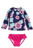 Tea Collection Infant Girl's Wando Two-Piece Rashguard Swimsuit