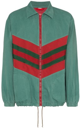 Gucci Contrast Stripe Zipped Track Jacket