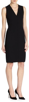 Akris Architecture Collection Double-Face Wool Dress