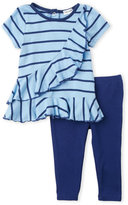 Splendid Newborn/Infant Girls) Two-Piece Cascading Ruffle Tunic & Leggings Set