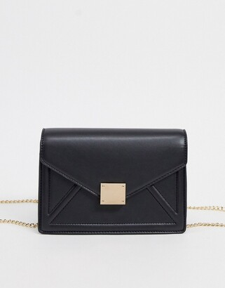 ASOS DESIGN multi way shoulder & cross body bag with hardware detail in black