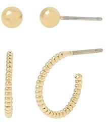 AllSaints Huggie Hoop & Ball Stud Earrings, Set of 2