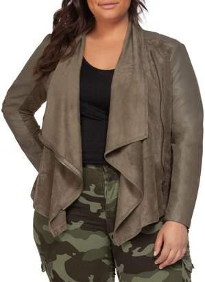 Dex Plus Textured Draped Jacket
