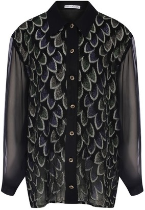 Kith&Kin Peacock Decorative Texture Shirt