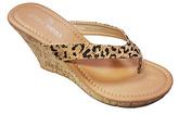 Tan Leopard Alice Wedge Sandal
