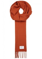 Norse Projects X Johnstons Of Elgin Orange Wool Scarf
