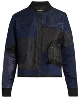 Longjourney Patchwork cotton bomber jacket