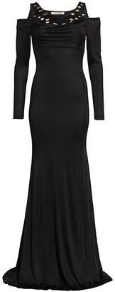 Roberto Cavalli Mirrored Jersey Gown