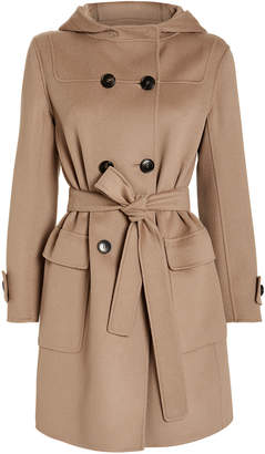 Max Mara S Belted Duffle Hooded Coat