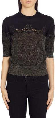 Dolce & Gabbana Lace Panel Sweater