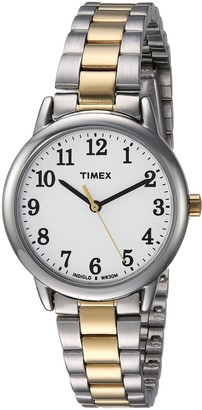 Timex Women's TW2R23900 Easy Reader 30mm Two-Tone/White Stainless Steel Bracelet Watch