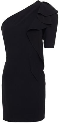 IRO One-shoulder Ruffled Crepe Mini Dress