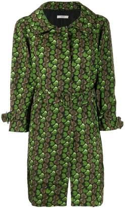 Prada heart print trench coat