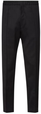 HUGO Extra-slim-fit stretch-twill trousers with elasticated waist