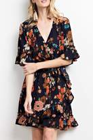 Easel Floral Wrap Dress