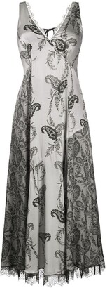 AllSaints paisley-print V-neck dress