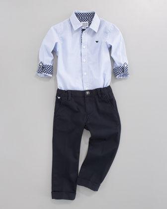 Armani Junior Twill Dress Pants