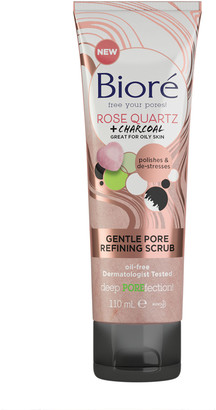 Biore Rose Quartz & Charcoal Gentle Pore Refining Scrub For Oily Skin 110Ml