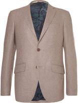 Etro Brown Slim-Fit Wool-Blend Blazer