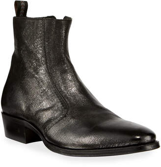 John Varvatos Men's Ludlow Vintage Leather Side-Zip Ankle Boots