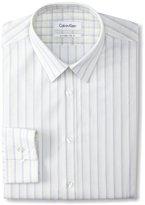 Calvin Klein Men's X Extreme Slim Fit Multi Stripe Dress Shirt