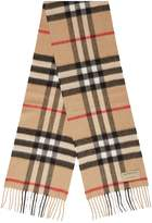 Burberry Kids Mini Classic Check Cashmere Scarf, Brown, OS