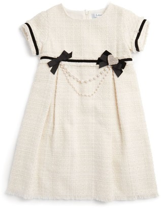 Lesy Bow-Detail Tweed Dress (3-12 Years)