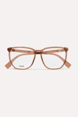 Fendi D-frame Acetate Optical Glasses - Light brown