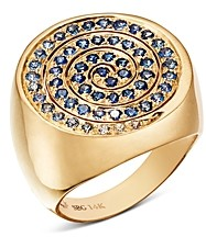 Shebee 14K Yellow Gold Ombre Sapphire Spiral Cocktail Ring