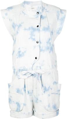 Etoile Isabel Marant Tie Dye Sky Print Playsuit