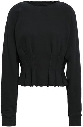 Current/Elliott Ruffle-trimmed French Pima Cotton-terry Sweatshirt