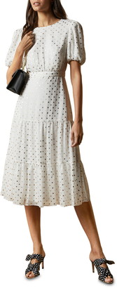 Ted Baker Mariani Metallic Dot Tiered Dress