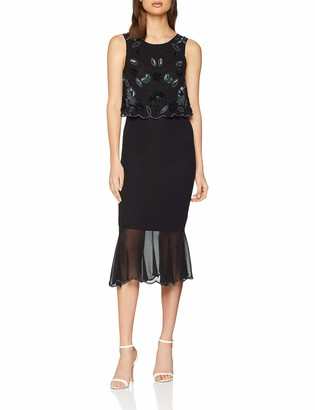 Frock and Frill Women's Embellished Two Tier Pencil Dress Party