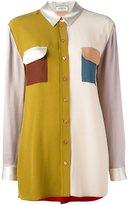 Lanvin colour block shirt